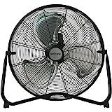 Hurricane Floor Fan - 20 Inch, Pro Series, High Velocity, Heavy Duty Metal Floor Fan for Industrial, Commercial, Residential,