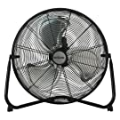 "Hurricane HGC736476 Pro Series High Velocity Metal Floor Fan, 20"", Black"