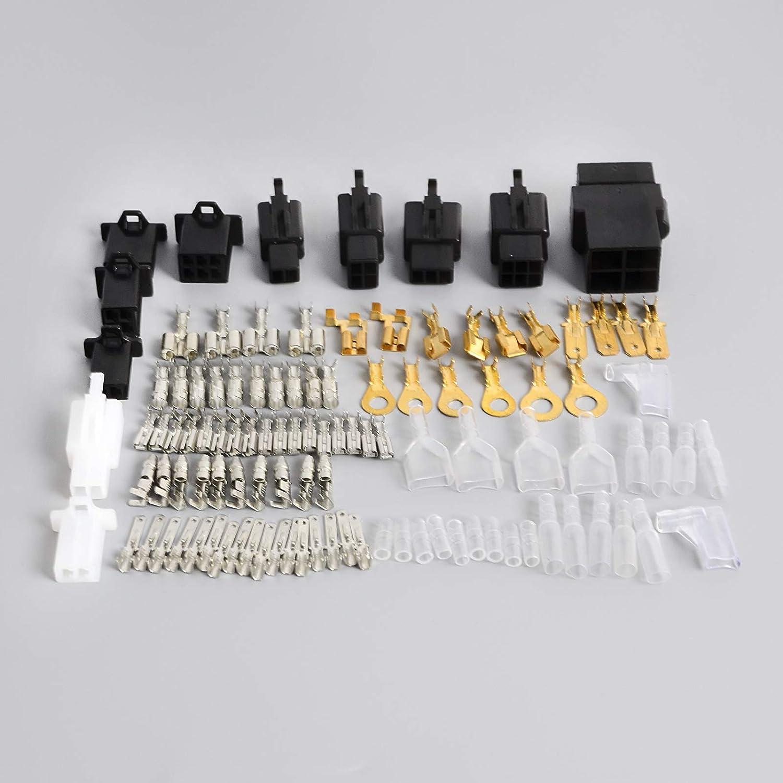 Amazon Com Nicecnc Universal Motorcycle Electrical Wiring Harness Repair Kit Loom Plugs Bullets Connectors Replace Yamaha Xt125 Xt350 Xt500 Xt600 Xt660 Xs650 750 1100 Automotive