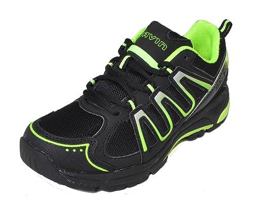 Gavin Zapato de Ciclismo de montaña MTB Zapatillas Estilo 38 UNIÓN Europea Negro/Verde: Amazon.es: Zapatos y complementos