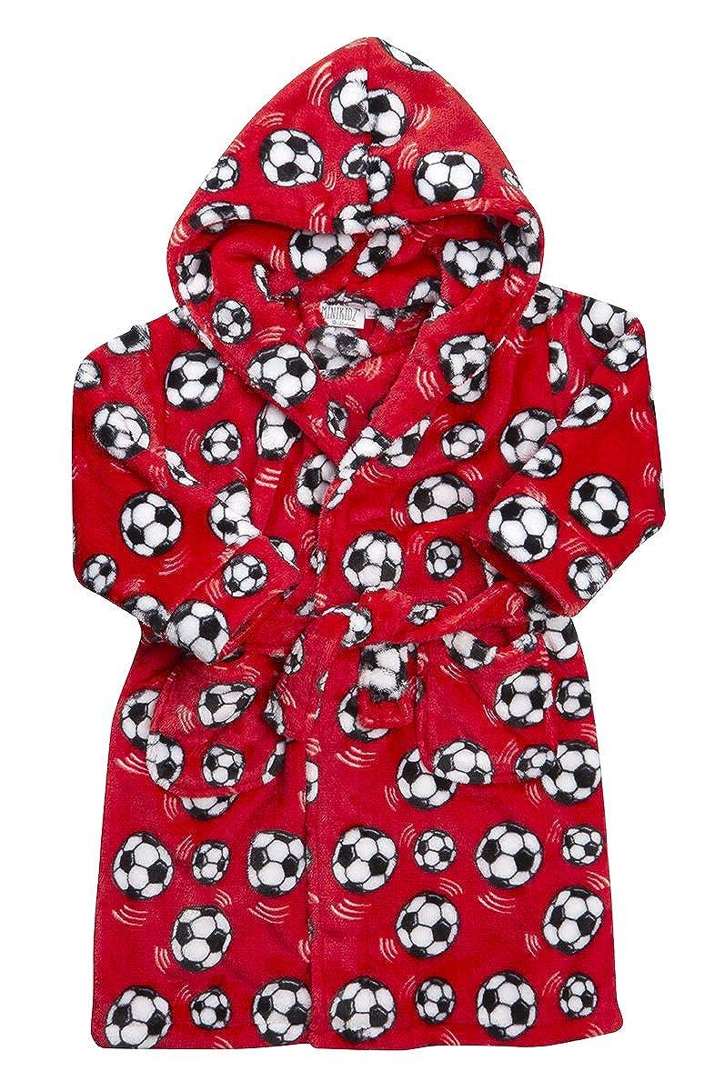 4 KIDZ Kidz Boys Supersoft Fleece Football Dressing Gown