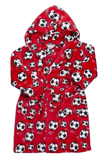 Niños Monster novedad albornoz de fútbol infantiles niños novedad divertida noche túnica rojo RED FOOTBALL 2-3 Años: Amazon.es: Ropa y accesorios