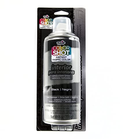 Deval Products Upholstery Spray Fabric Paint 8 Ounce Midnight