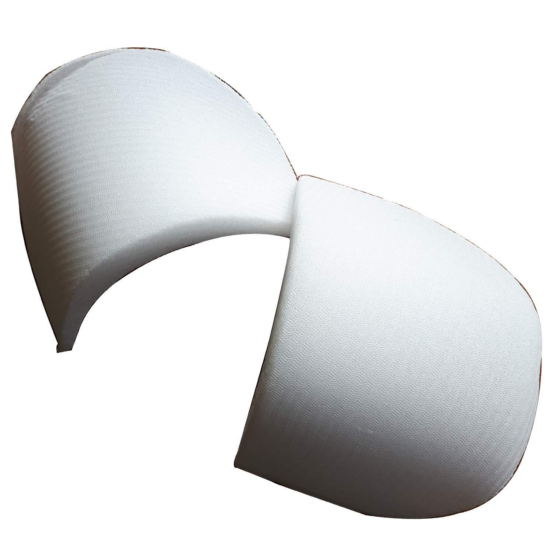 mediac 1 Paire Epaulette Recouverte en Demi-Lune 10 x 15,50 cm Coloris Blanc T1