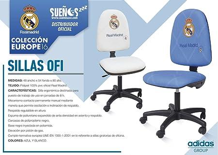 Sillas De Trabajo Madrid.Suenoszzz Real Madrid Producto Oficial Silla Escritorio Azul
