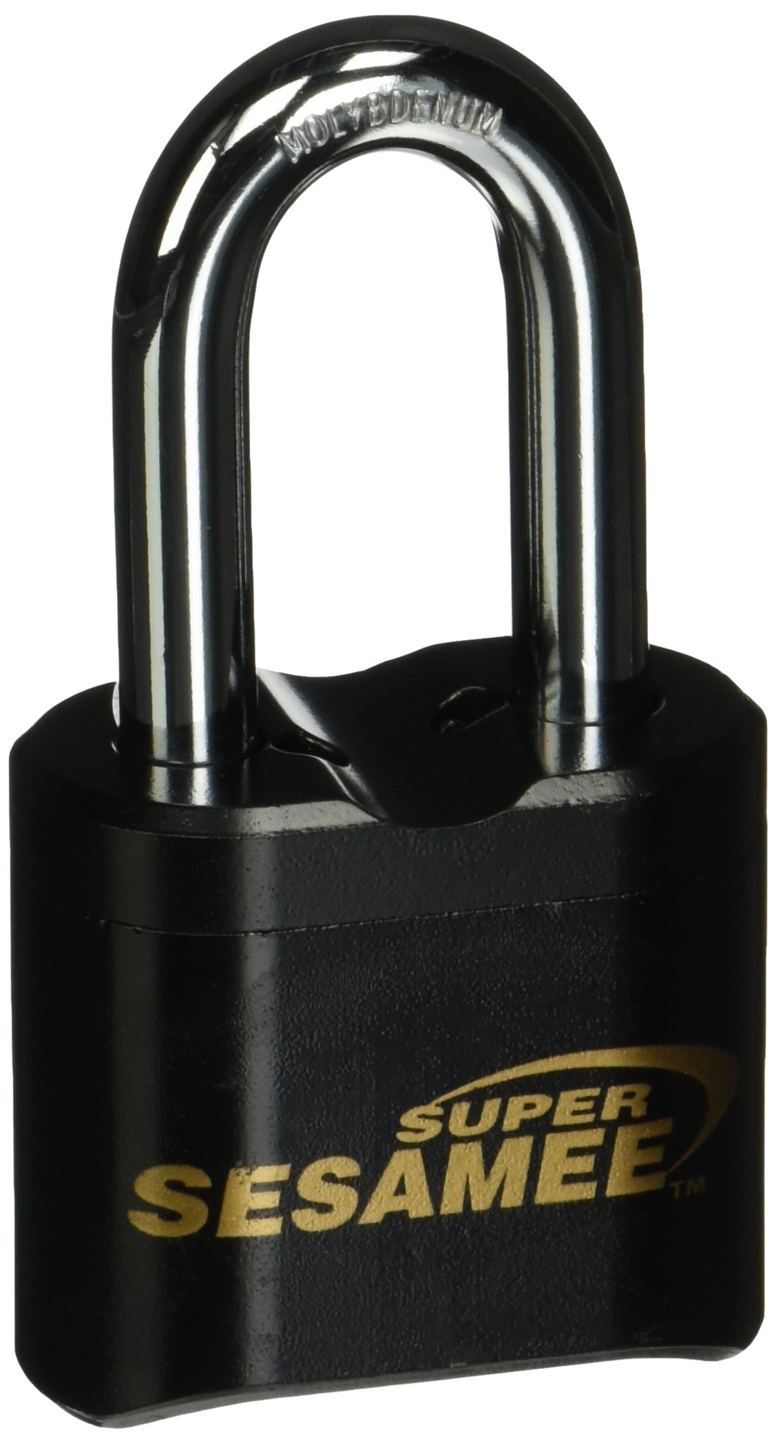Sesamee K637 4 Dial Bottom Resettable Combination Brass Padlock with 2-Inch Shackle and 10,000 Potential Combinations by CCL Security Products