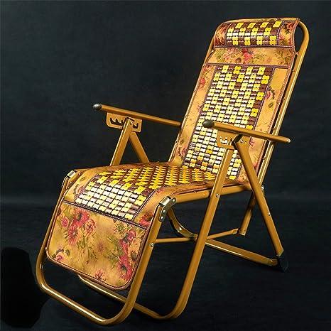 YNN Reclinables Bamboo Lounge Chair Silla Plegable Lunch ...