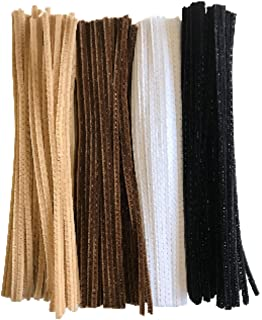 30pk impEX Straight Chenilles//Pipe Cleaners for Crafts 6mmx30cm Brown