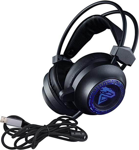 Amazon Com Eornmor Gaming Headset 7 1 Surround Sound Gaming Headphones 50mm Driver Stereo Usb Headset With Led Light Noise Cancelling Soft Breathing Over Ear Game Headphones For Pc Ps4 Home Audio Theater
