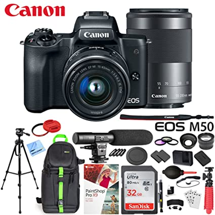 Amazon com : Canon EOS M50 Mirrorless Camera w/ 4K Video EF