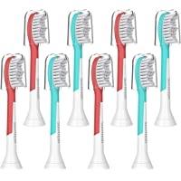 Kids Replacement Toothbrush Heads,Compatible with Philips Sonicare HX6340,Standard Sonic Care Kids Brush Heads for Children Over 7 Years Old, Fit HX6320,HX6042/94,HX6034,HX6321,HX6330,HX6331 8 pack