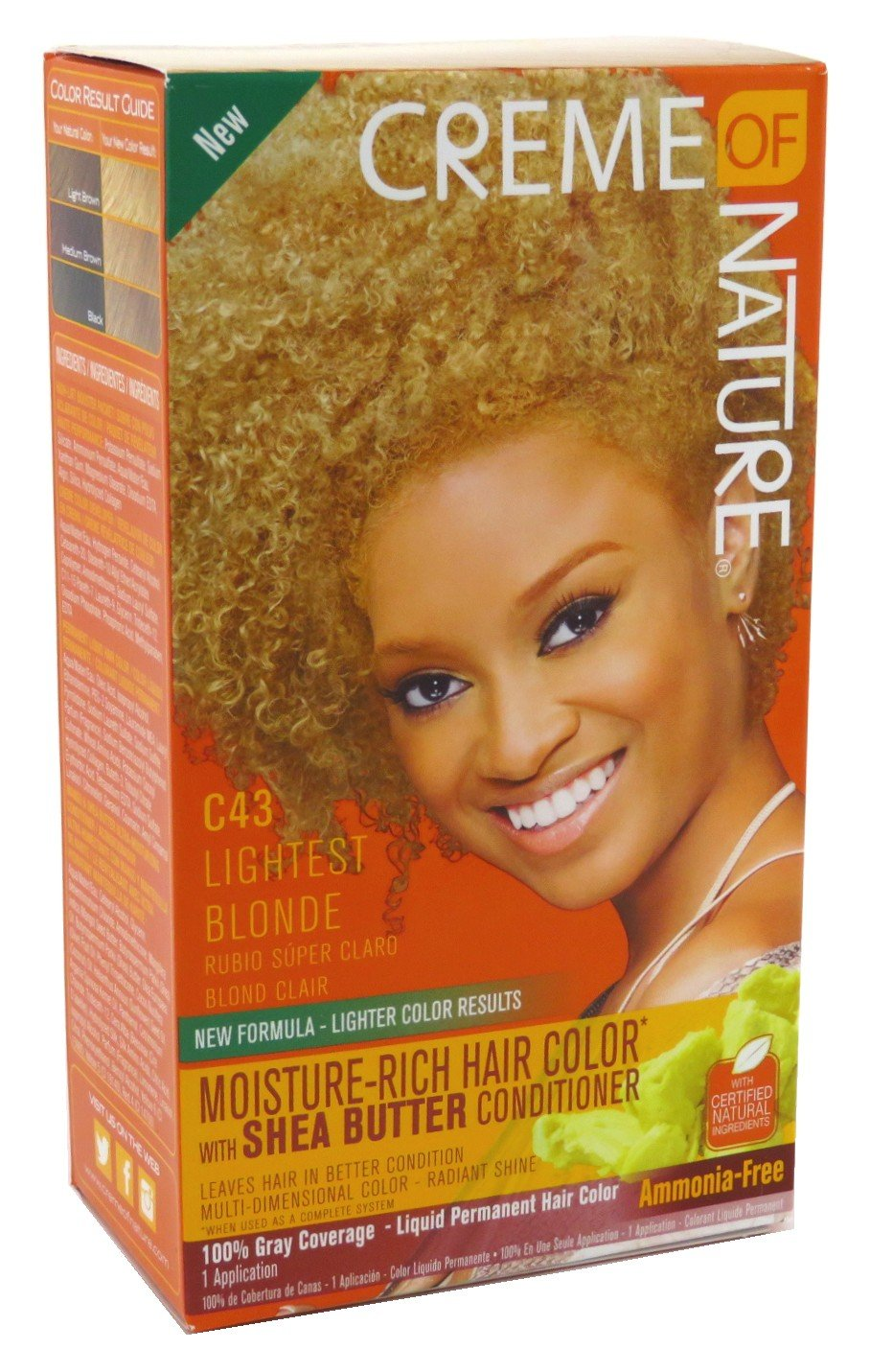 Amazon Creme Of Nature Color C43 Lightest Blonde Kit 6 Pack