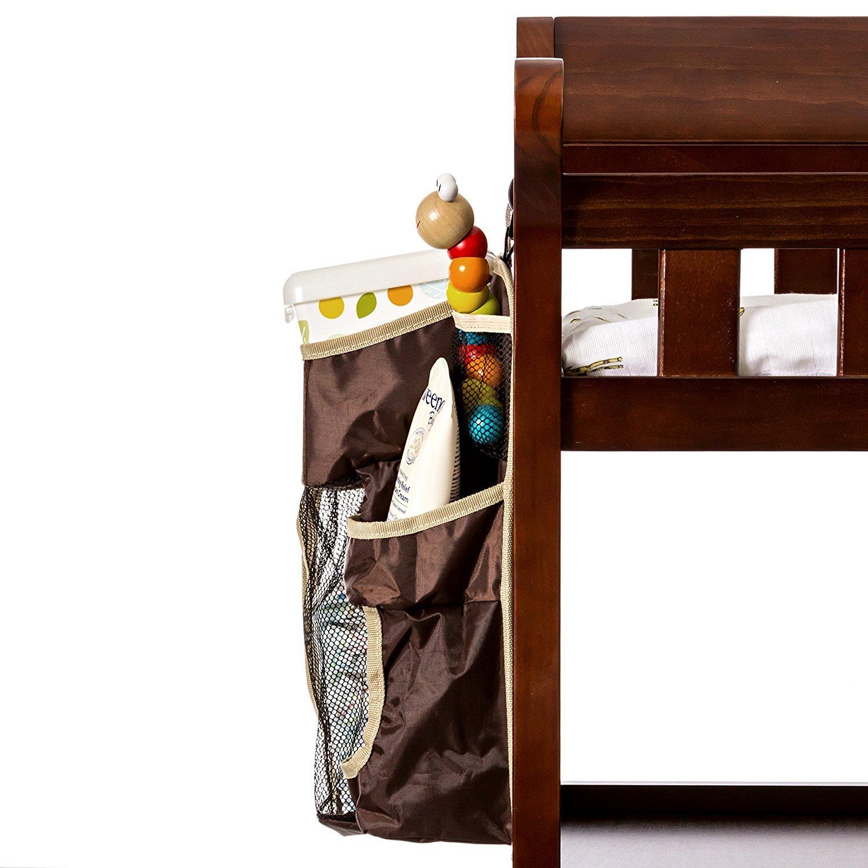 Buzzy Babee Diaper Change Organizer Brown//Coffee Perfect Diaper Caddy /& Playard Organizer