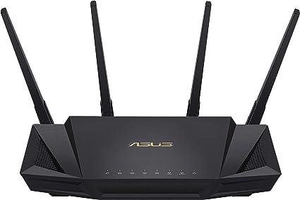 ASUS RT-AX58U - Router WiFi 6 AX3000 160Mhz Doble Banda Gigabit (OFDMA, MU-MIMO, 1024QAM, QoS, Cliente y Servidor VPN, Modo Punto Acceso, repetidor & ...