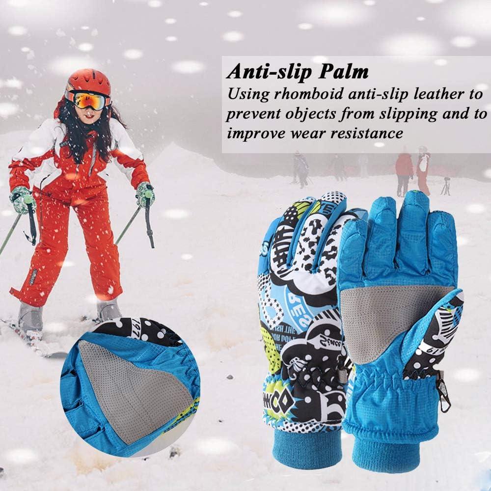 Warm Winter Handschuhe wasserdichte Junge M/ädchen Sporthandschuhe Windproof Fahrradhandschuhe f/ür Skifahren Radfahren Wintersport im Freien S M L fit 3 bis 12 Jahre Dentuso Kinder Skihandschuhe