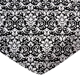 product image for SheetWorld Fitted Sheet (Fits BabyBjorn Travel Crib Light) - White Damask - Made In USA