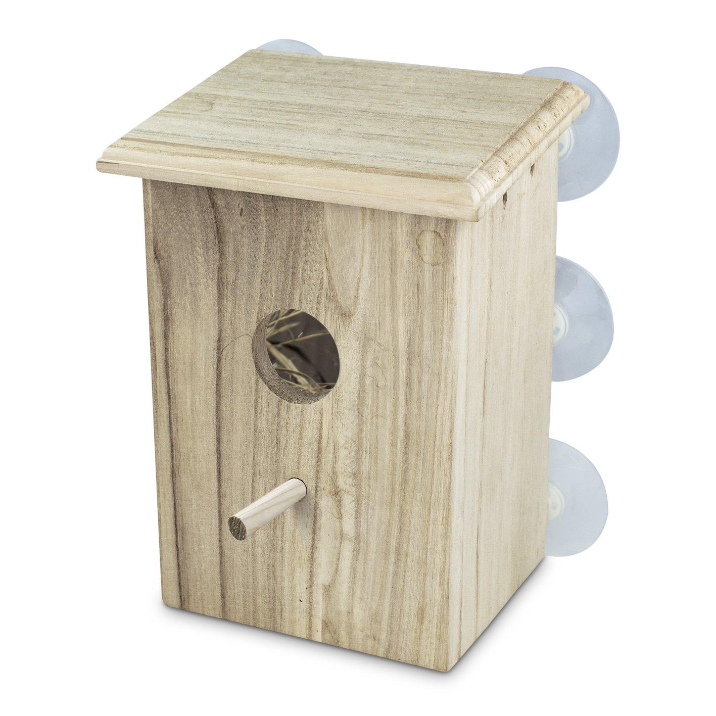 Window bird house - Petsn All Real Wood Bird Nest Window Bird House