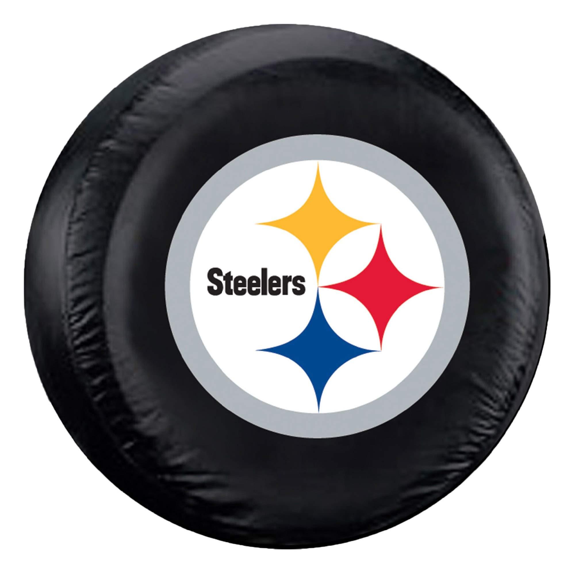 Fremont Die NFL Pittsburgh Steelers Tire Cover, Standard Size (27-29'' Diameter) by Fremont Die