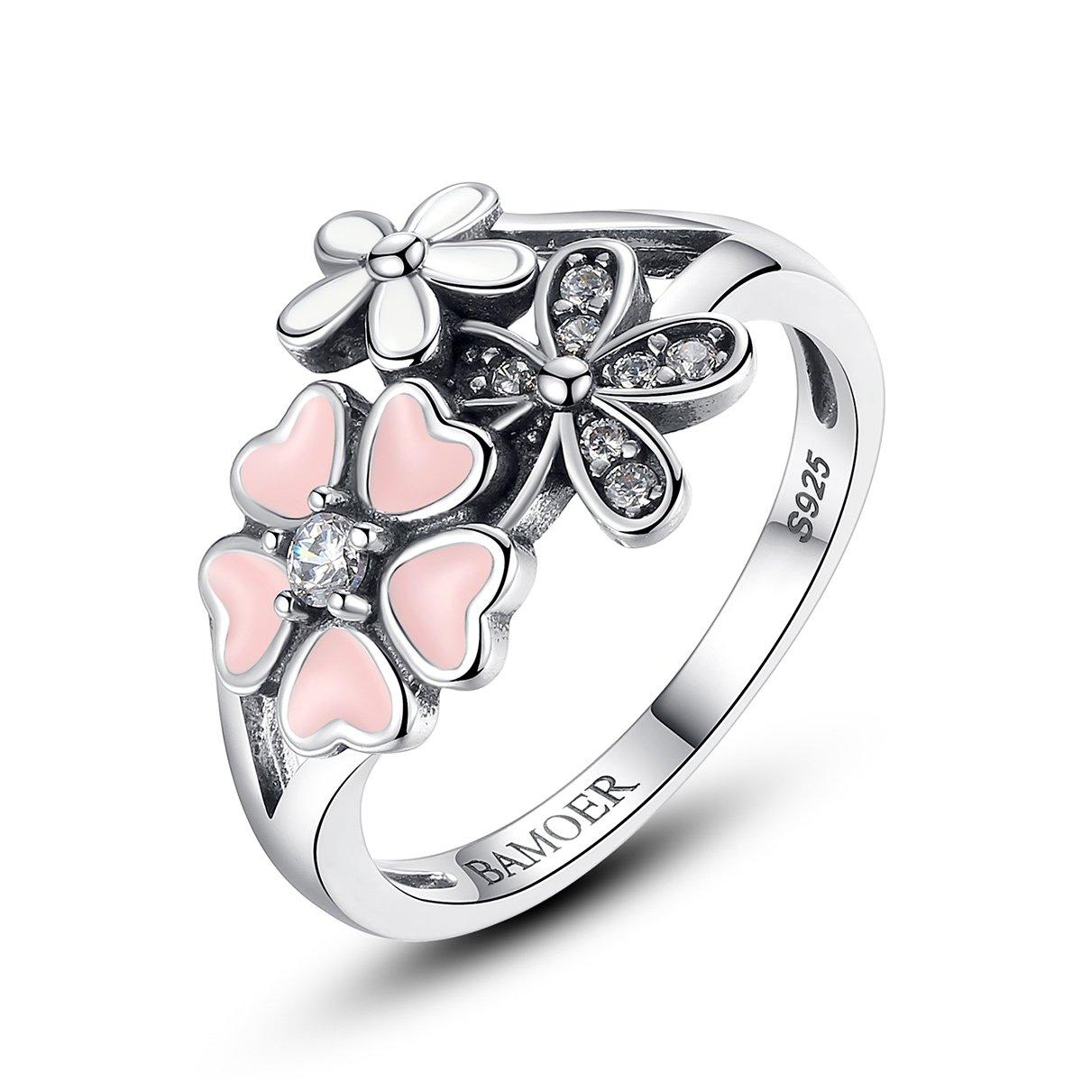 BIGBOBA Anillo de plata creativo con forma de gafas de apertura anillo de compromiso accesorios de joyer/ía de regalo anillo de boda para pareja