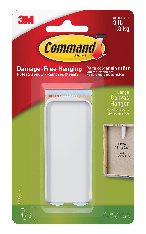 Canvas Hanger Large 1 Hook, 2 Strips/Pk