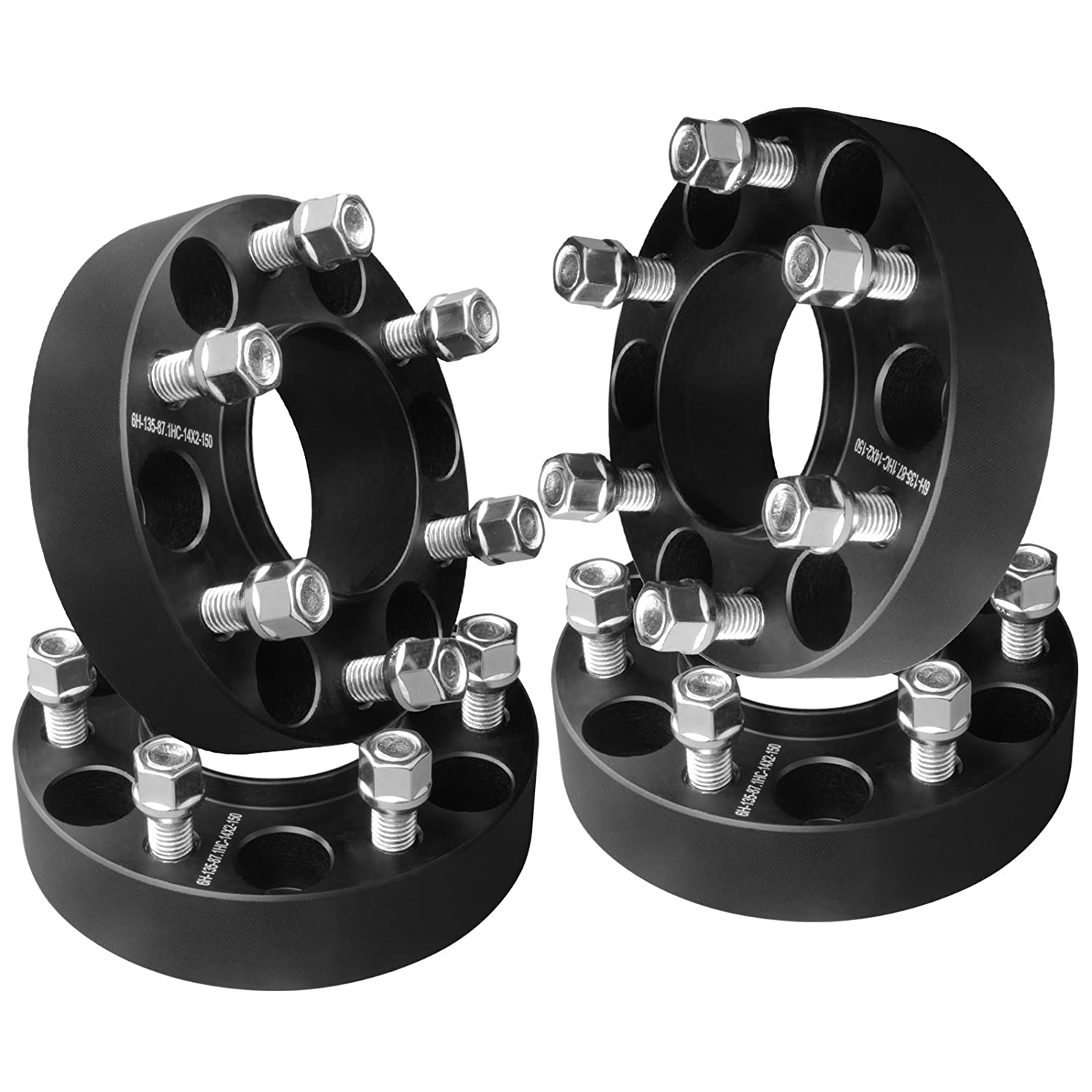 2003-2014 Navigator 2003-2014 Expedition GDSMOTU 4pc Hubcentric 1.5 Wheel Spacers 6x135 with 14x2.0 Studs for 2004-2014 Ford F150 2006-2014 Lincoln Mark LT