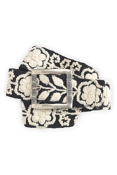 Tey-Art Anne Embroidered Wool Fair Trade Belt