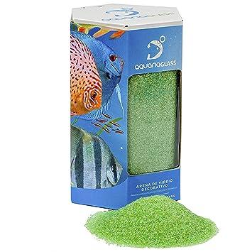 Aquariaglass Amazonia Arena de Vidrio para decoración de acuarios, peceras y terrarios 2 kg Cristal Color Verde: Amazon.es: Productos para mascotas