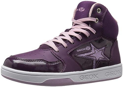 d6c4b2c881 Geox Girls' Maltin 13 High Top Sneaker, Purple/Pink, 37 Medium EU ...