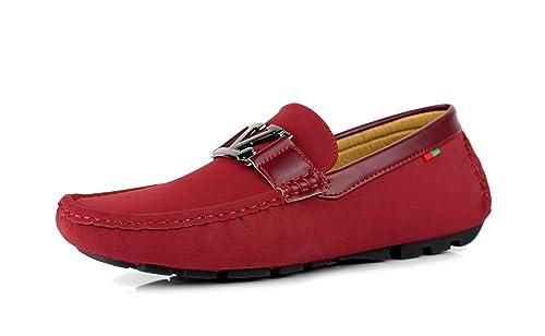 nouveau style 1bca5 cc7c0 JAS Homme Glissant en de Marque Mocassin Conduite Chaussure Décontracté  Italien Mode Mocassins