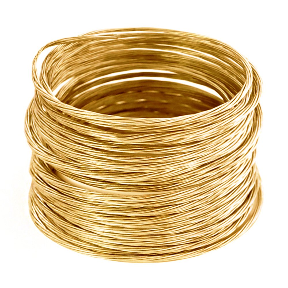 HomeDone Picture Hanging Brass Wire 100-Feet, Supports 20 lbs