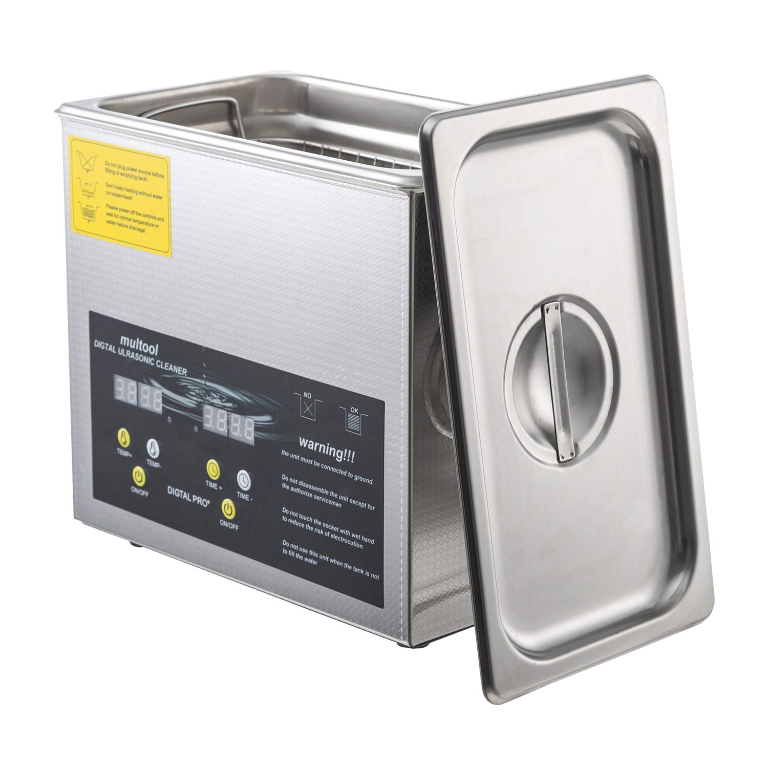 Ultrasonic Cleaner Commercial and Jewelry Ultrasonic Cleaner with Heater and Digital Control (3.2L)
