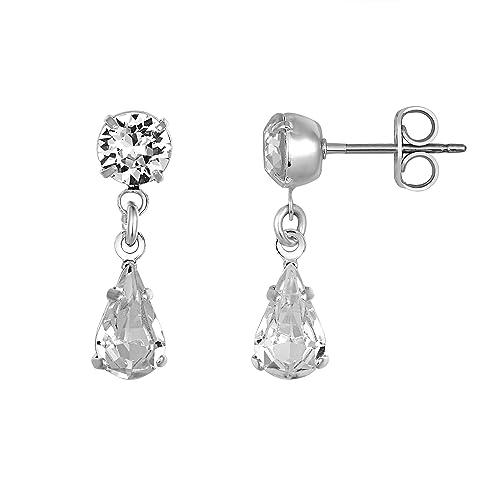l'atteggiamento migliore d1b1a a7355 orecchini di diamanti a goccia, orecchini Swarovski ...