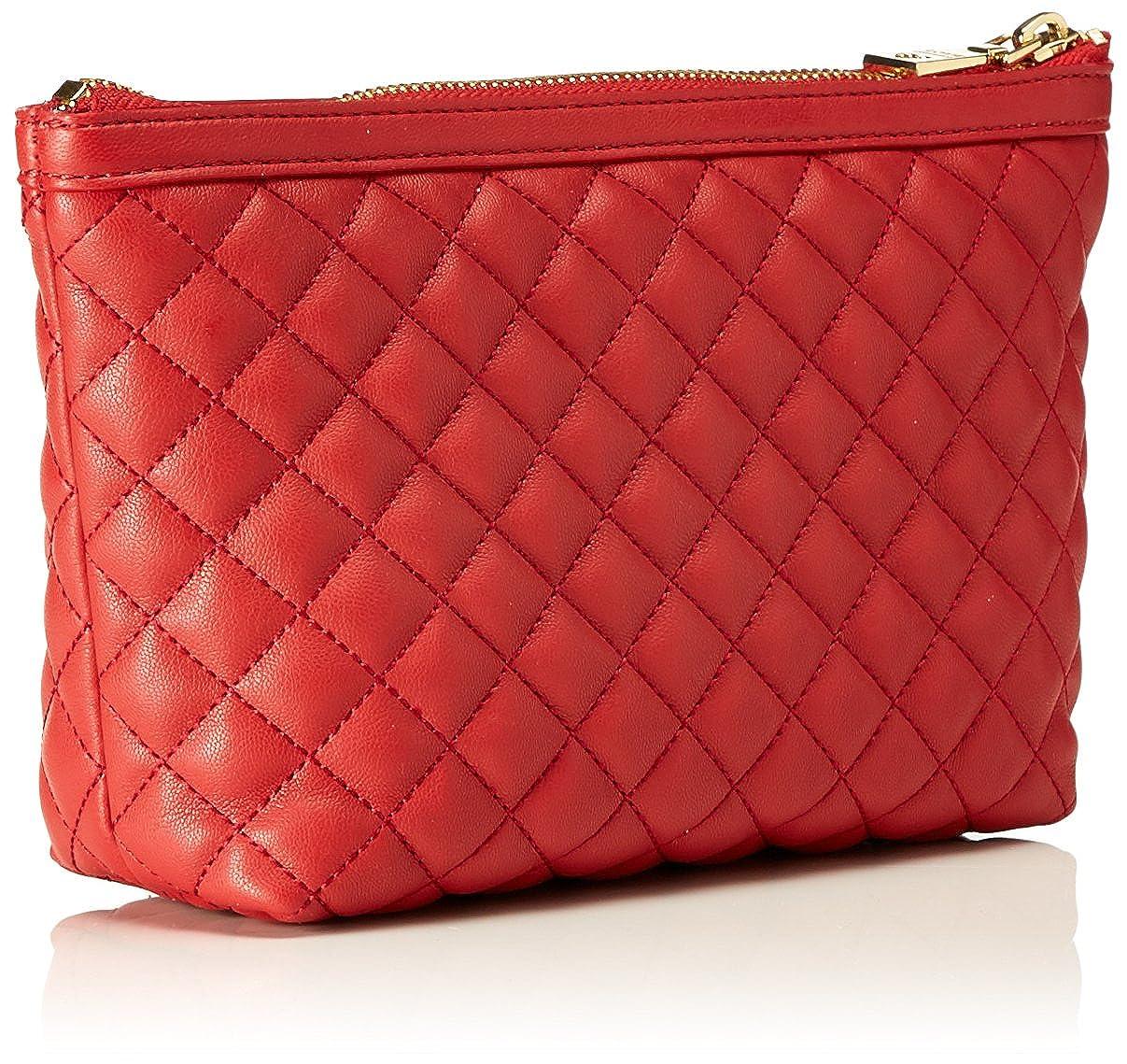 Bustina Nappa Pu Trap.rosso, Womens Wristlet, Rot (Red), 13 x 25 7 cm (wxhxd) Love Moschino