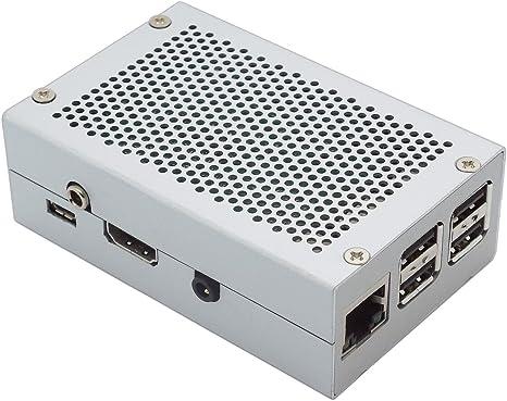 Caja para HiFi Berry y Raspberry Pi 2 Modelo B/B + Aluminium Gehäuse für DAC+ Phone Jack silber: Amazon.es: Informática
