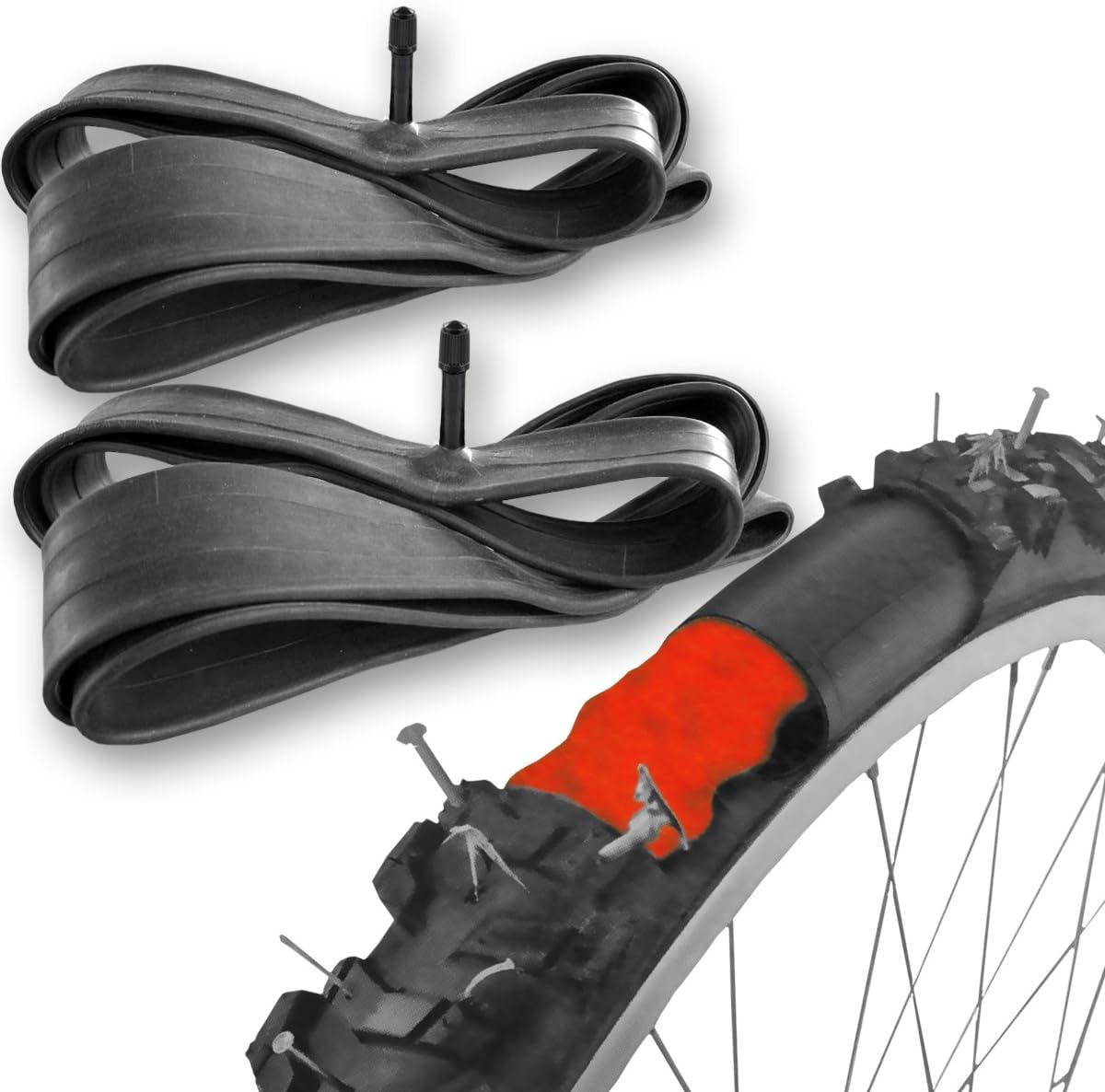 2 Cámaras de bicicleta autorreparables para ruedas de 26 o 28 pulgadas con válvula Schrader: Amazon.es: Deportes y ...