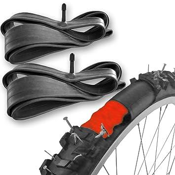 2 Cámaras de bicicleta autorreparables para ruedas de 26 o 28 pulgadas con válvula Schrader: Amazon.es: Deportes y aire libre