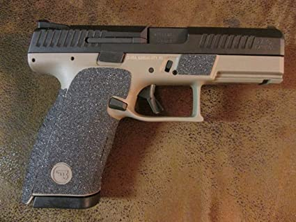 Sand-Paper-Pistol-Grips - Peel and Stick - Grip Tape Grip Enhancements for  The CZ P-10 C - Full Coverage Kit