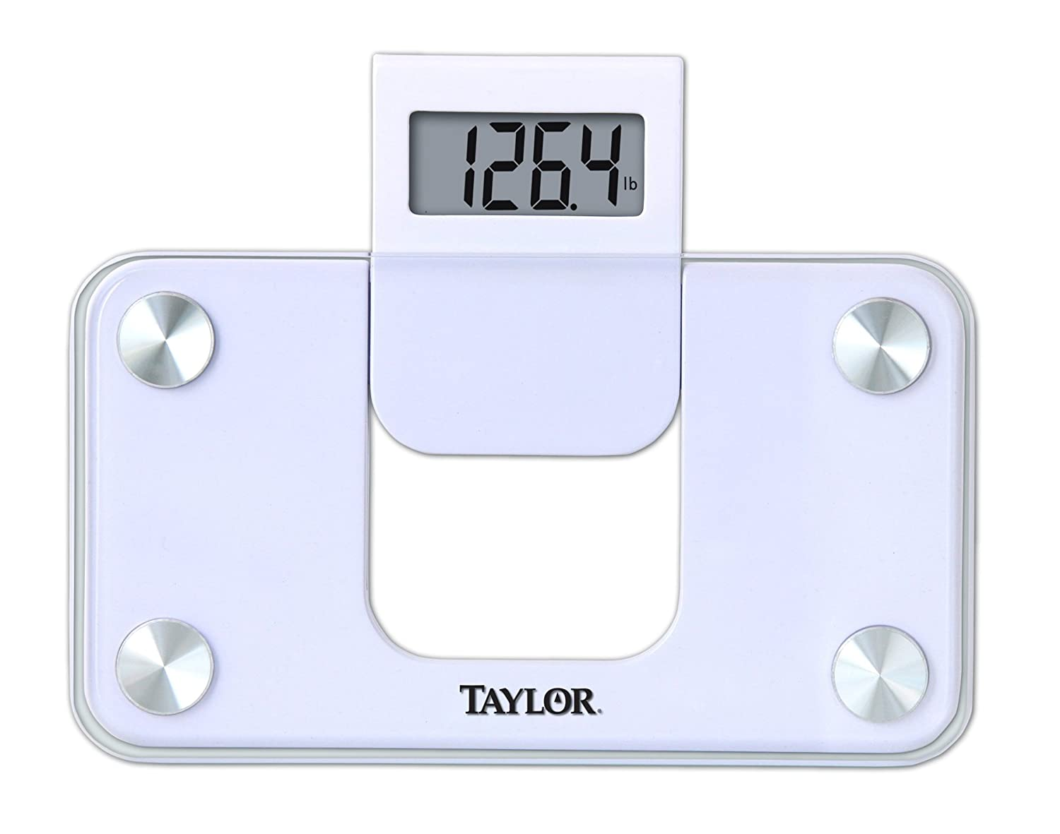 Bathroom scale accuracy consistency - Amazon Com Taylor Precision Products Digital Glass Mini Scale With Expandable Readout White Health Personal Care