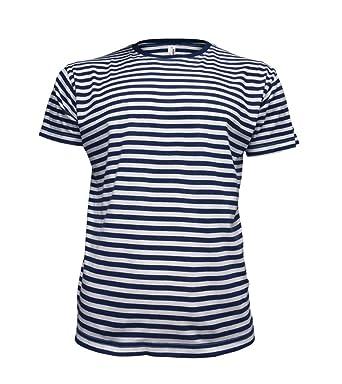 cd41b5e27277 eppo brand Short Sleeve Fancy French Russian Striped Sailors Marine Navy  Blue & White T-Shirt Telnyashka: Amazon.co.uk: Clothing