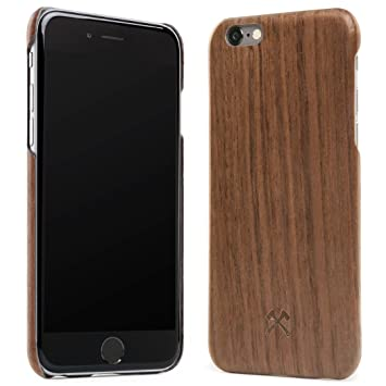 Woodcessories – Carcasa, Funda Compatible con iPhone X/XS, de Madera Real, EcoCase Slim (Nogal)