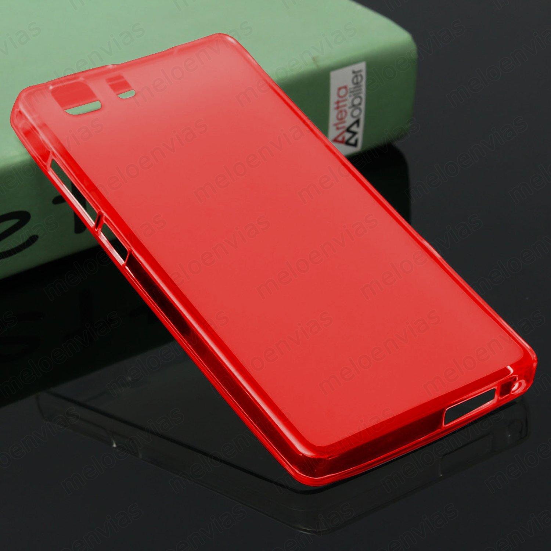 Funda carcasa para DOOGEE X5 / X5 PRO / X5S Gel Tpu LISO MATE Color ROJO