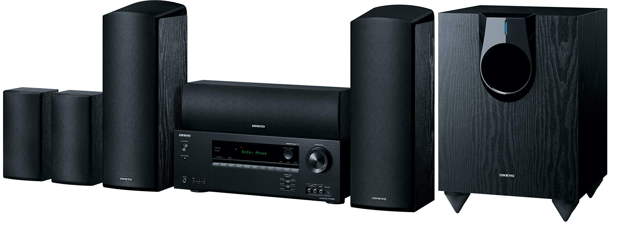 Onkyo HT-S5800 5.1.2-Channel Dolby Atmos Home Theater Package (Renewed)