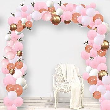 Specool Decoración De Cumpleaños En Globos De Oro Rosa 100 Piezas Rosa Pálido Oro Rosa Blancos De Oro De Globosglobo De Fiesta Decoraciones Para