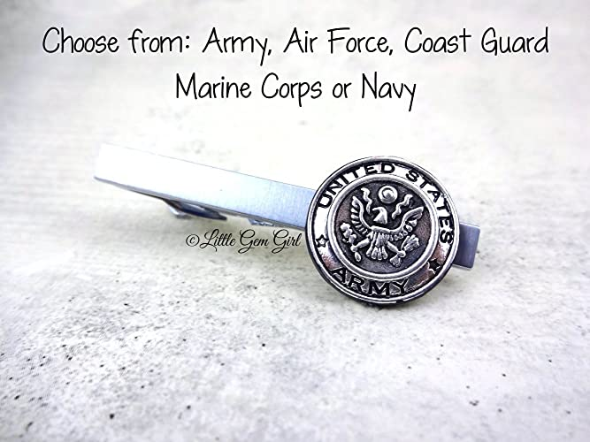 Amazon silver military tie clip 5 styles available army air silver military tie clip 5 styles available army air force coast guard marine corps or navy ccuart Images