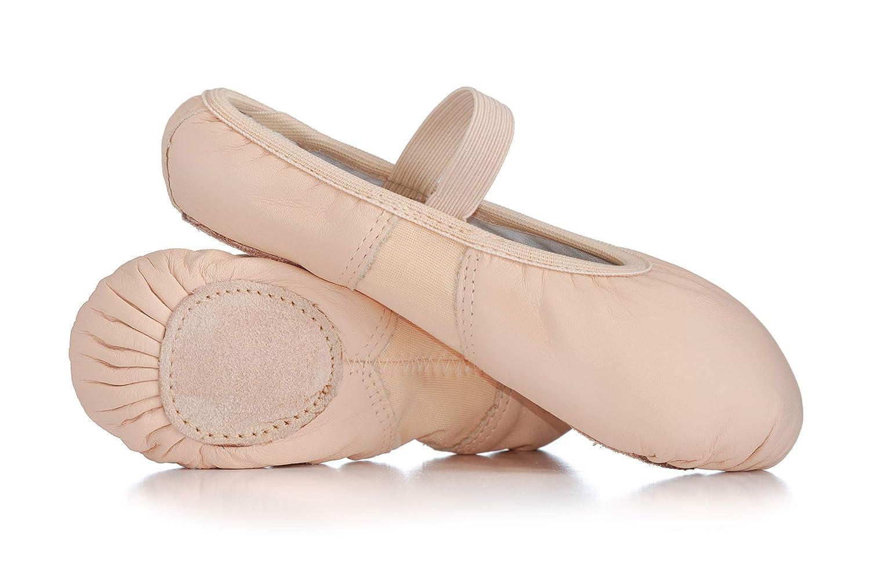 Child Spandex Arch Leather Split-Sole Ballet Shoes T2800C
