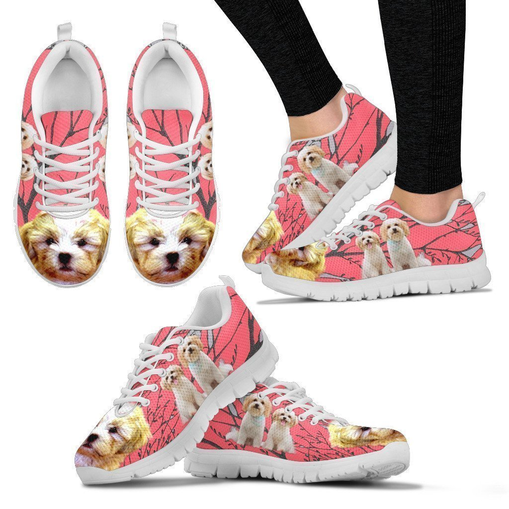 Express Shipping Pet Animal Designs Cute Shih Poo Print Running Shoe for Women