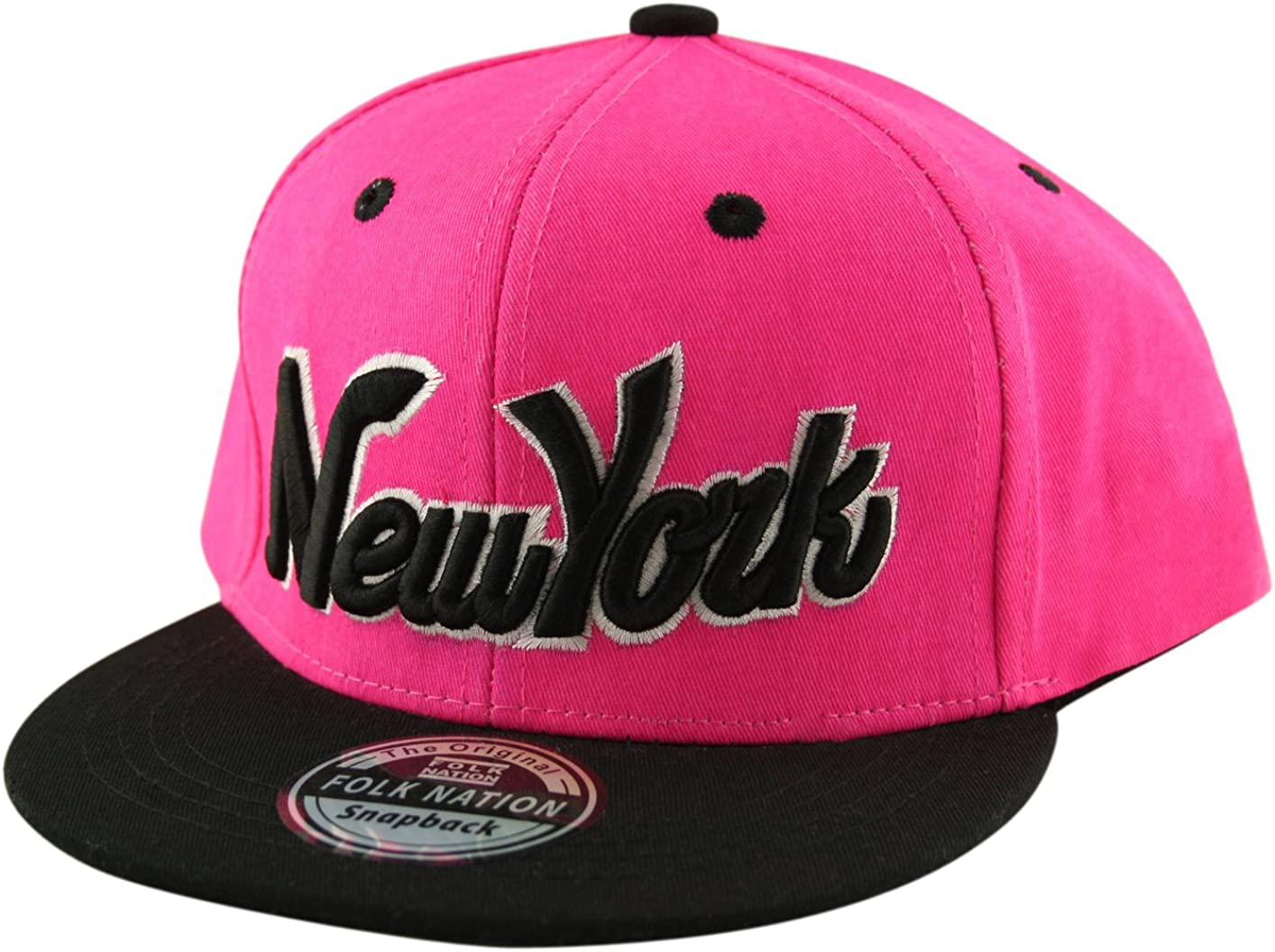 One Size Adjustable Snapback Baseball Cap Hat Youth Kids Boys Girls New York NY Script Lots of colours available!