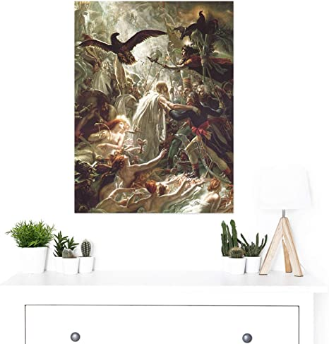 Girodet-Trioson Ossian Ghosts French Heroes Painting XL Wall Art Canvas Print