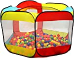 Kiddey Ball Pit Play Tent for Kids - 6-Sided Ball Pit