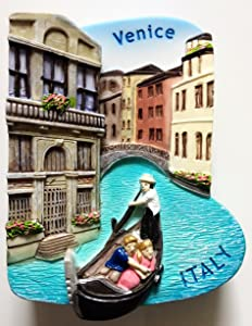 Venice Gondola ITALY Resin 3D fridge Refrigerator Thai Magnet Hand Made Craft. by Thai MCnets